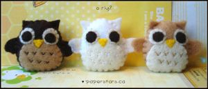 Owls by littlepaperforest