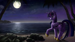 Full moon beauty [collab] by AMPGamer