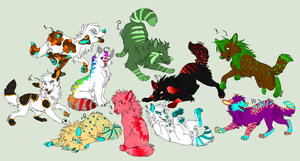 Wolf Adoptables [OPEN] by Wyeth-Kitty