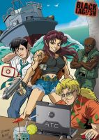 Black Lagoon company in action by DarkKnight81