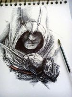 Incomplete Altair part 3 - ballpoint pen by Musiriam