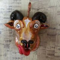 horned goat, and or ram pendant by RoxyHasHorns