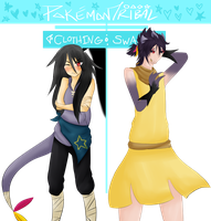 PT . Clothing Swap ||Meakka and Enit|| by Foxiani