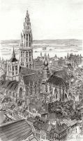 Antwerpen Cathedral Version 2 by reesmeister