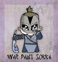 War Paint Sokka by rabidcyrus