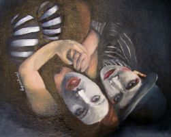 Oil Painting of Dresden Dolls by xgirl-anachronismx