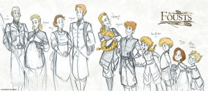 The Foust Family Lineup by Altalamatox