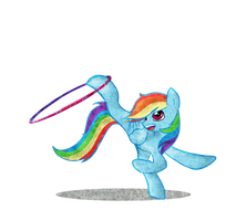 Rainbow Dash Gymnast by Kna