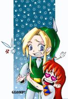 Link and Malon ARG GLOMP by roryalice