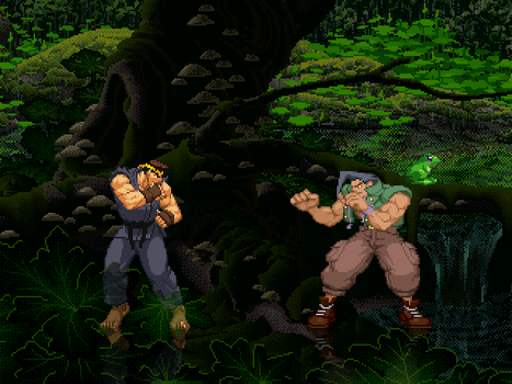 [Mugen Stage] Deep Forest (Rain) *Updated* by JordanoDaMano