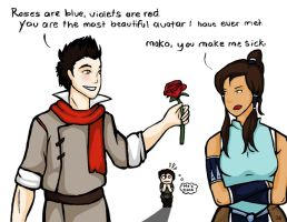 Makorra valentine's by Lauratar