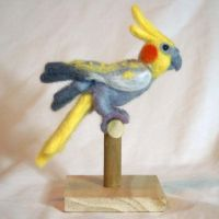 Needle Felted Pearl Cockatiel by The-GoblinQueen