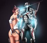 Shepard and The Geth (colors) by nahp75
