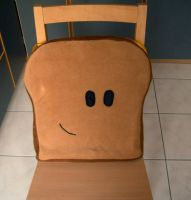 Toast seat cushion by digikijo