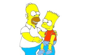 bart and homer by naniloke