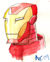 Watercolour Iron Man by WesleyRiot