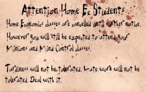 AoV - A Note to Home Ec Students by MarionetteDolly
