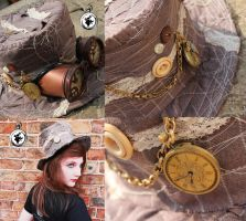 Out of Time Steampunk Hat by fudgemallow