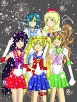 Sailor Scouts Kawaii by kellieabomination