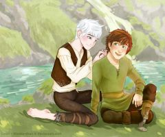Braids - Jack+Hiccup - collab with Livori by Marine-chan