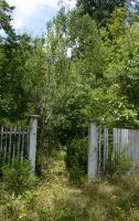 Old Garden Fence Entrance 004 by poeticthnkr