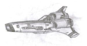 Colonial Viper Mk. II by GuiMontag