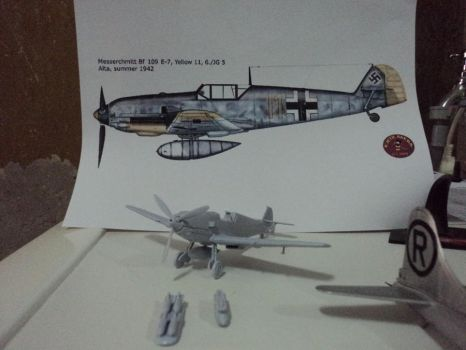 Bf-109E-7 in prog by DingoPatagonico