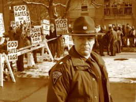Westboro baptist Church Protes by mattywing