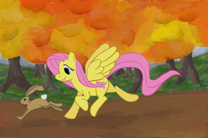 Autumn Run by AmbroseButtercrust