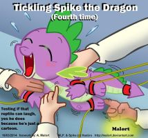 tickling Spike the dragon 4 by Malort75