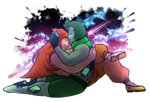 Commission: Topaz and Diopside by Deer-Head