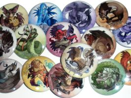 Photo: Mythology Buttons by neondragon