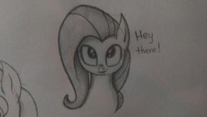 Hey there! - Fluttershy sketch by Chrispy248