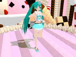 mmd dt-style Miku the 3rd Alice by Eipuriru14