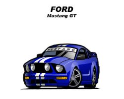 Chibi Ford Mustand GT by CGVickers