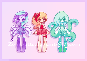 Adoptables Batch 2: CLOSED by Zombutts