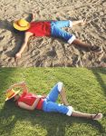 Luffy: Chillin' by hellozombie