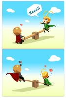 Brothers's seesaw by lanwei915
