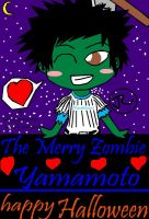 KHR the Merry Zombie Yamamoto Happy Halloween by Bluedragoncartoon