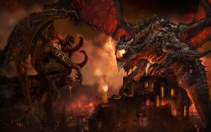 World Of Warcraft - Illidan meets Deathwing by ivailoto5