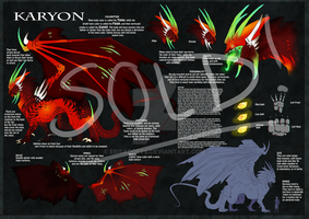 Karyon Dragon Species Sheet - SOLD by ErisAdopts