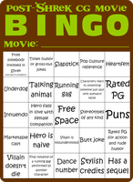 Post-Shrek CG Movie Bingo by Maxtaro
