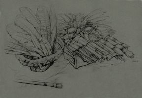 Still Life - Feathers, Brushes by windfalcon