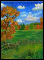 Impressionist field in fall by Lostfiniel