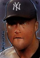 Derek Jeter Sketch Card 2010 by Ethrendil