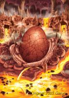 mystery egg on lava by garun