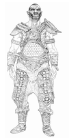 orc in scaled armor by swept-wing-racer