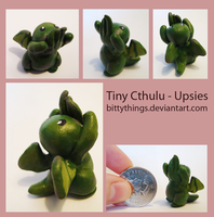 Little Cthulu - Upsies - SOLD by Bittythings