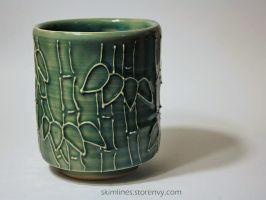 Bamboo Forest tea cup by skimlines