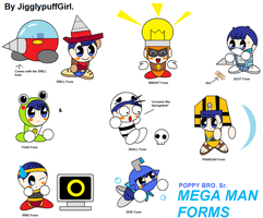 Poppy Sr. Megaman RM Forms 4 by JigglyPuffGirl